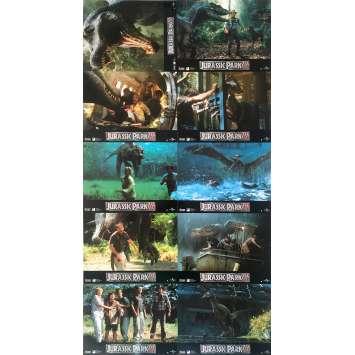 JURASSIC PARK III Original Lobby Cards - 9x12 in. - 2001 - Steven Spielberg, Sam Neil