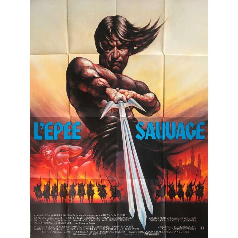 L'EPEE SAUVAGE Affiche de film - 120x160 cm. - 1982 - Lee Horsley, Albert Pyun