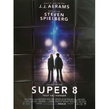 SUPER 8 Affiche de film - 120x160 cm. - 2011 - Elle Fanning, J. J. Abrams
