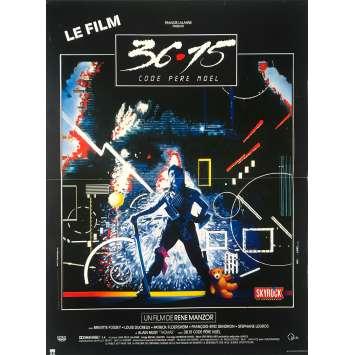3615 PERE NOEL Affiche de film - 40x60 cm. - 1989 - Brigitte Fossey, René Manzor