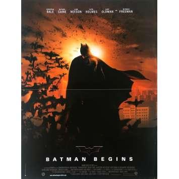 BATMAN BEGINS Original Movie Poster - 15x21 in. - 2005 - Christopher Nolan, Christian Bale