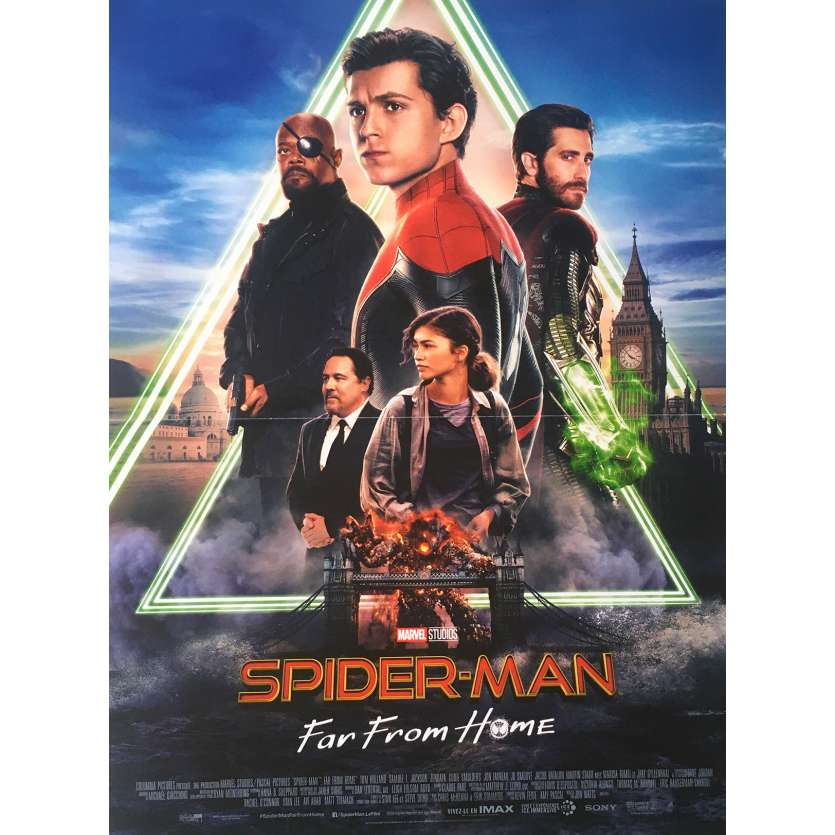 SPIDER-MAN FAR FROM HOME Original Movie Poster - 15x21 in. - 2019 - Jon Watts, Tom Holland