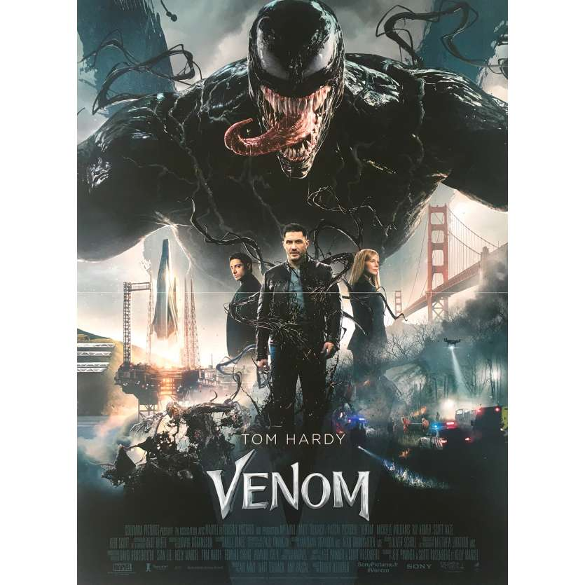 VENOM Original Movie Poster - 15x21 in. - 2018 - Ruben Fleischer, Tom Hardy