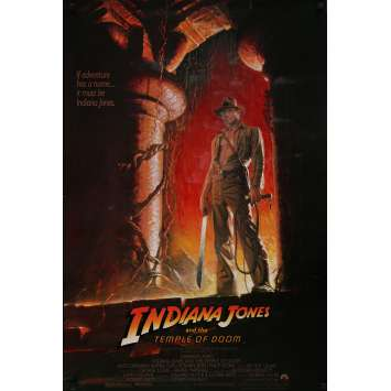 INDIANA JONES AND THE TEMPLE OF DOOM Original Movie Poster - 27x41 in. - 1984 - Steven Spielberg, Harrison Ford