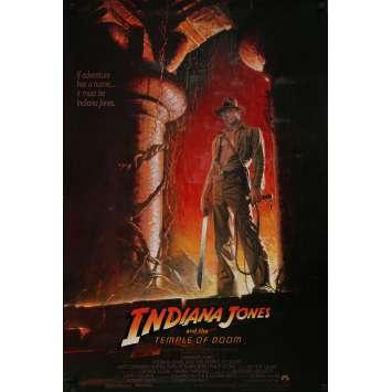INDIANA JONES ET LE TEMPLE MAUDIT Affiche de film - 69x104 cm. - 1984 - Harrison Ford, Steven Spielberg