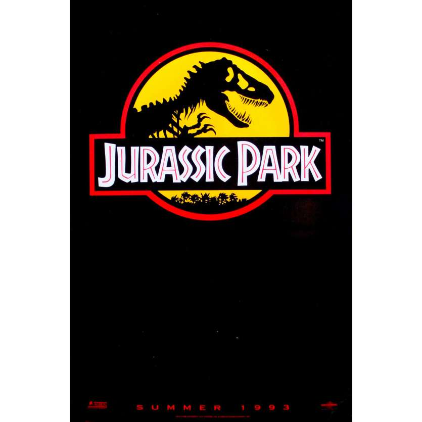 JURASSIC PARK Original Movie Poster Yellow Teaser - 27x41 in. - 1993 - Steven Spielberg, Sam Neil