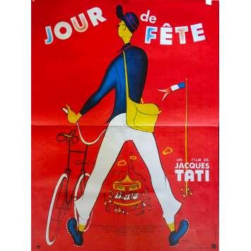 JOUR DE FETE Affiche de film - 60x80 cm. - 1949 - Paul Frankeur, Jacques Tati