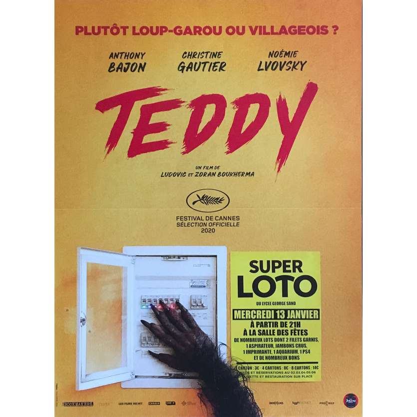 TEDDY Original Movie Poster - 15x21 in. - 2020 - Ludovic Boukherma, Anthony Bajon