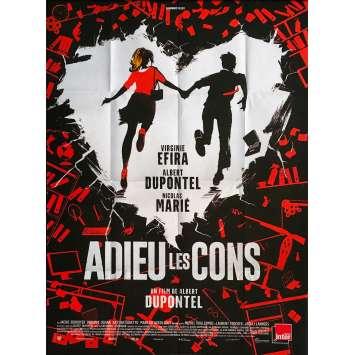 ADIEU LES CONS Affiche de film - 120x160 cm. - 2020 - Terry Gilliam, Virginie Efira, Albert Dupontel