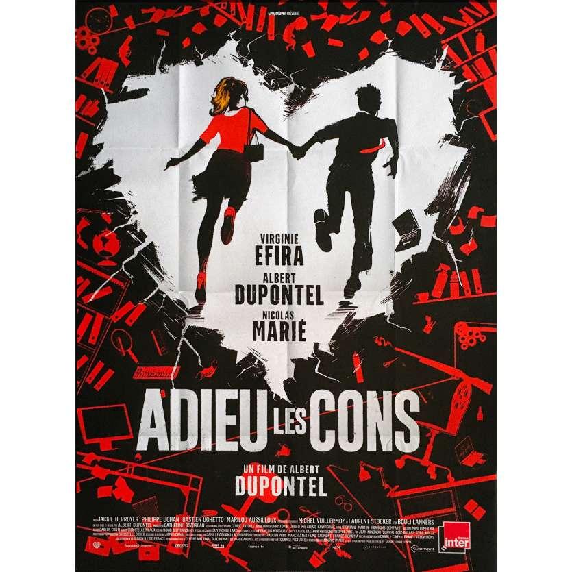 BYE BYE MORONS Original Movie Poster - 47x63 in. - 2020 - Albert Dupontel, Terry Gilliam, Virginie Efira
