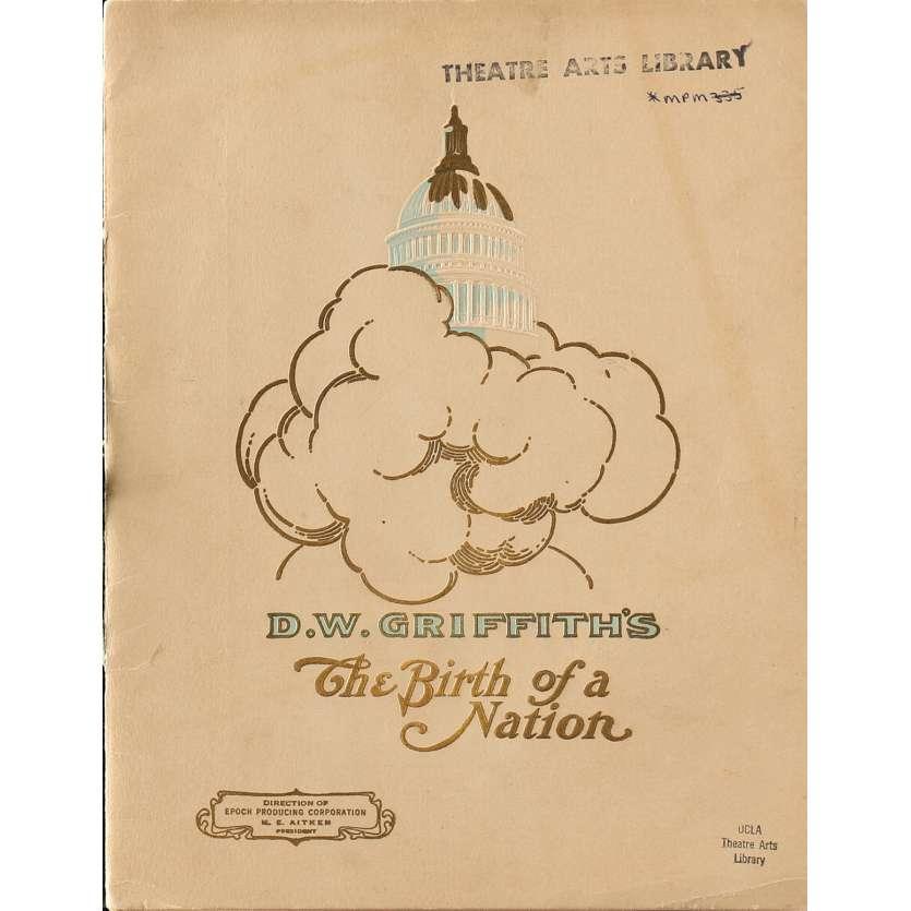NAISSANCE D'UNE NATION Programme - 21x30 cm. - 1915 - Lillian Gish, D.W. Griffith
