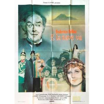 ET VOGUE LE NAVIRE Affiche de film - 100x140 cm. - 1983 - Freddie Jones, Federico Fellini