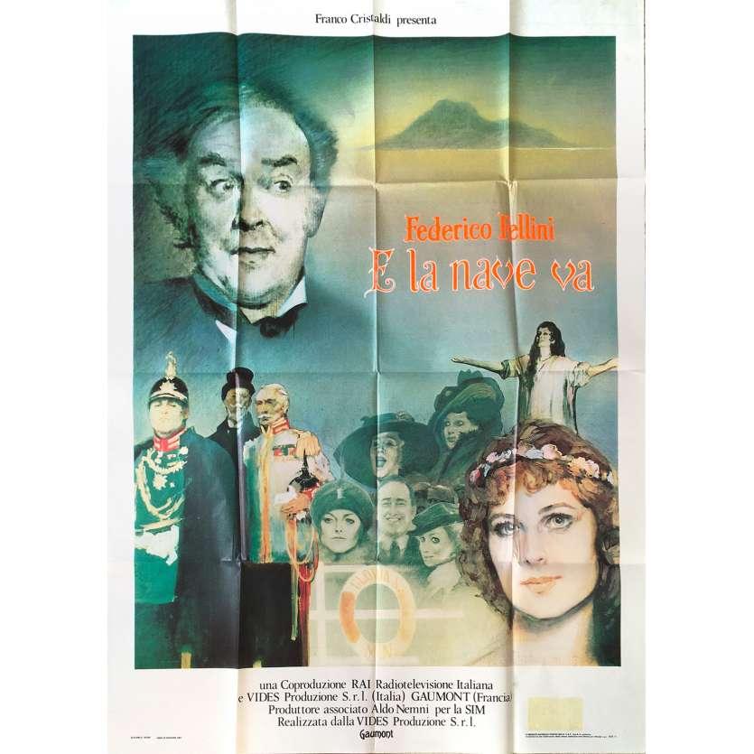 AND THE SHIP SAILS ON Original Movie Poster - 39x55 in. - 1983 - Federico Fellini, Freddie Jones