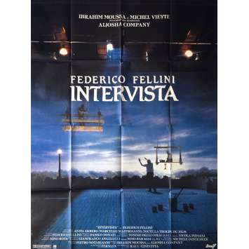 INTERVISTA Affiche de film - 120x160 cm. - 1987 - Sergio Rubini, Federico Fellini