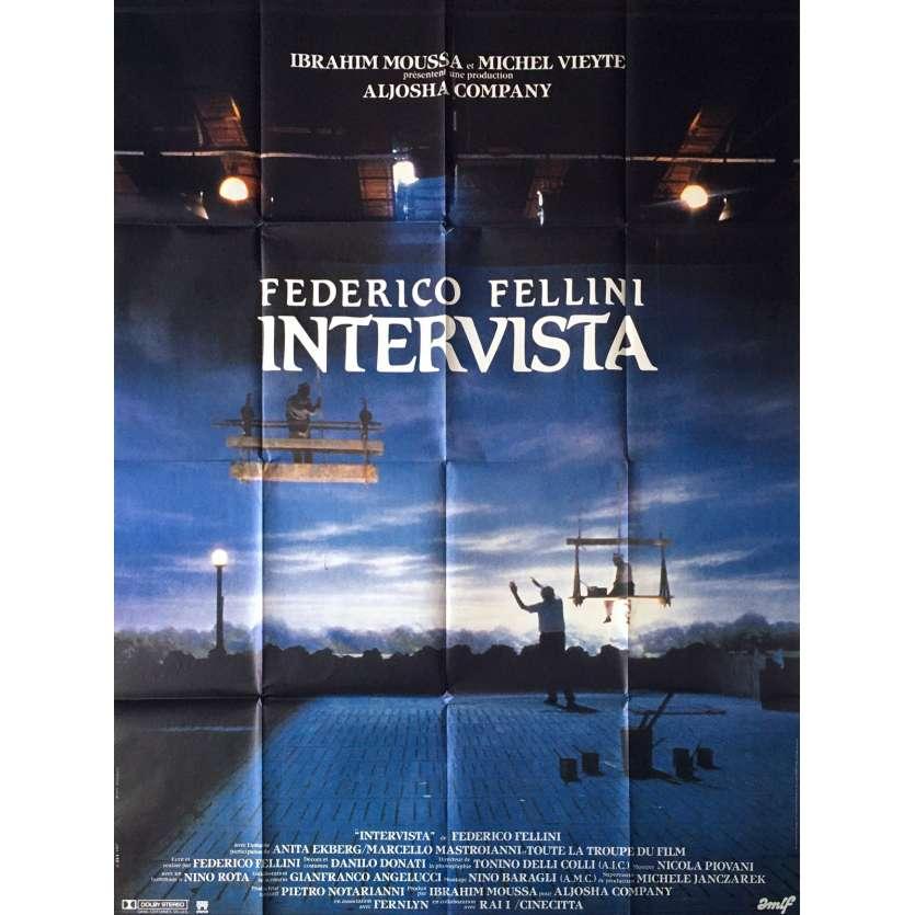 INTERVISTA Original Movie Poster - 47x63 in. - 1987 - Federico Fellini, Sergio Rubini