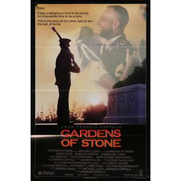 GARDENS OF STONE Original Movie Poster - 27x40 in. - 1987 - Francis Ford Coppola, James Caan