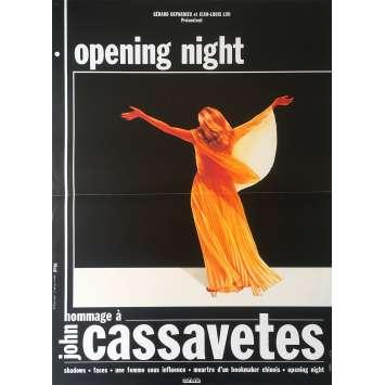 OPENING NIGHT Original Movie Poster - 15x21 in. - 1977 - John Cassavetes, Gena Rowlands
