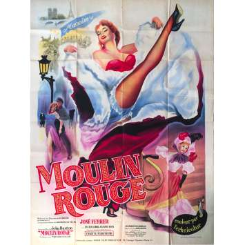 MOULIN ROUGE Original Movie Poster - 47x63 in. - 1952 - John Huston, José Ferrer, Zsa Zsa Gabor
