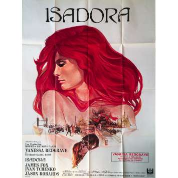 ISADORA Original Movie Poster - 47x63 in. - 1968 - Karel Reisz, Vanessa Redgrave