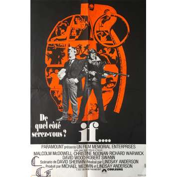 IF Original Movie Poster Folded in 4 - 15x21 in. - 1968 - Lindsay Anderson, Malcolm McDowell