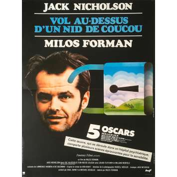 ONE FLEW OVER THE CUCKOO'S NEST Original Movie Poster - 15x21 in. - 1975 - Milos Forman, Jack Nicholson