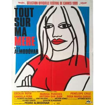 TOUT SUR MA MERE Affiche de film Pliée en 4 - 40x60 cm. - 1999 - Cecilia Roth, Pedro Almodovar