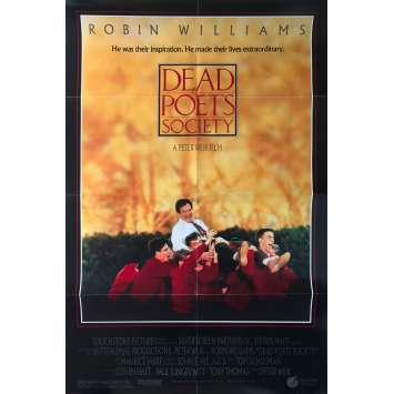 DEAD POETS SOCIETY Original Movie Poster - 27x40 in. - 1989 - Peter Weir, Robin Williams