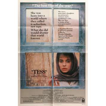 TESS Original Movie Poster - 27x40 in. - 1981 - Roman Polanski, Nastassja Kinski