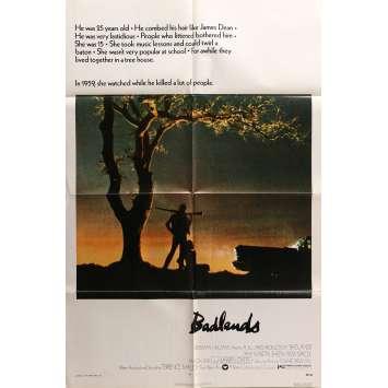 BADLANDS Original Movie Poster - 27x40 in. - 1973 - Terrence Malick, Martin Sheen, Sissy Spacek