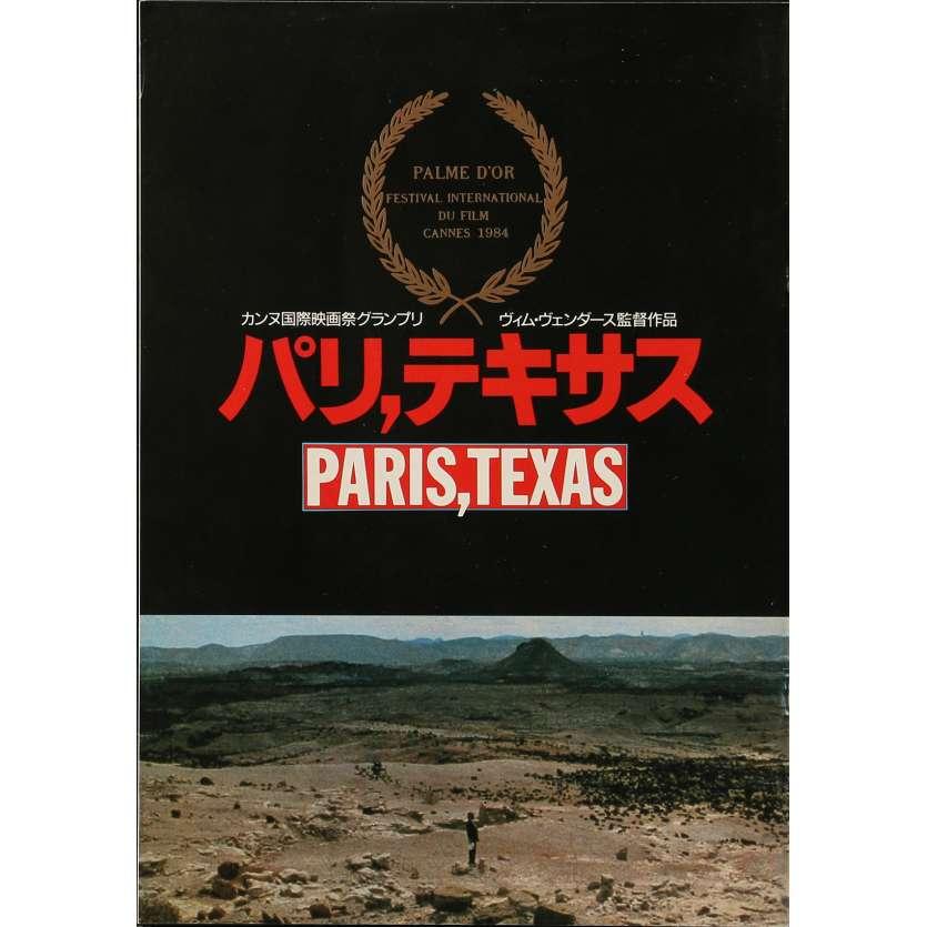 PARIS TEXAS Original Program - 9x12 in. - 1984 - Wim Wenders, Nastassja Kinski
