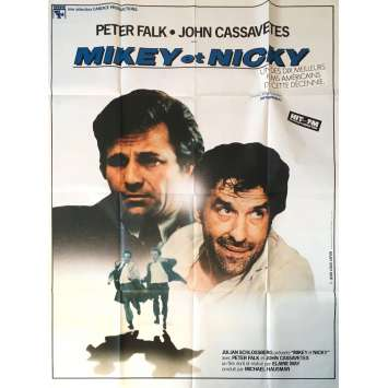 MICKEY ET NICKY Affiche de film - 120x160 cm. - 1976 - Peter Falk, John Cassavetes, Elaine May