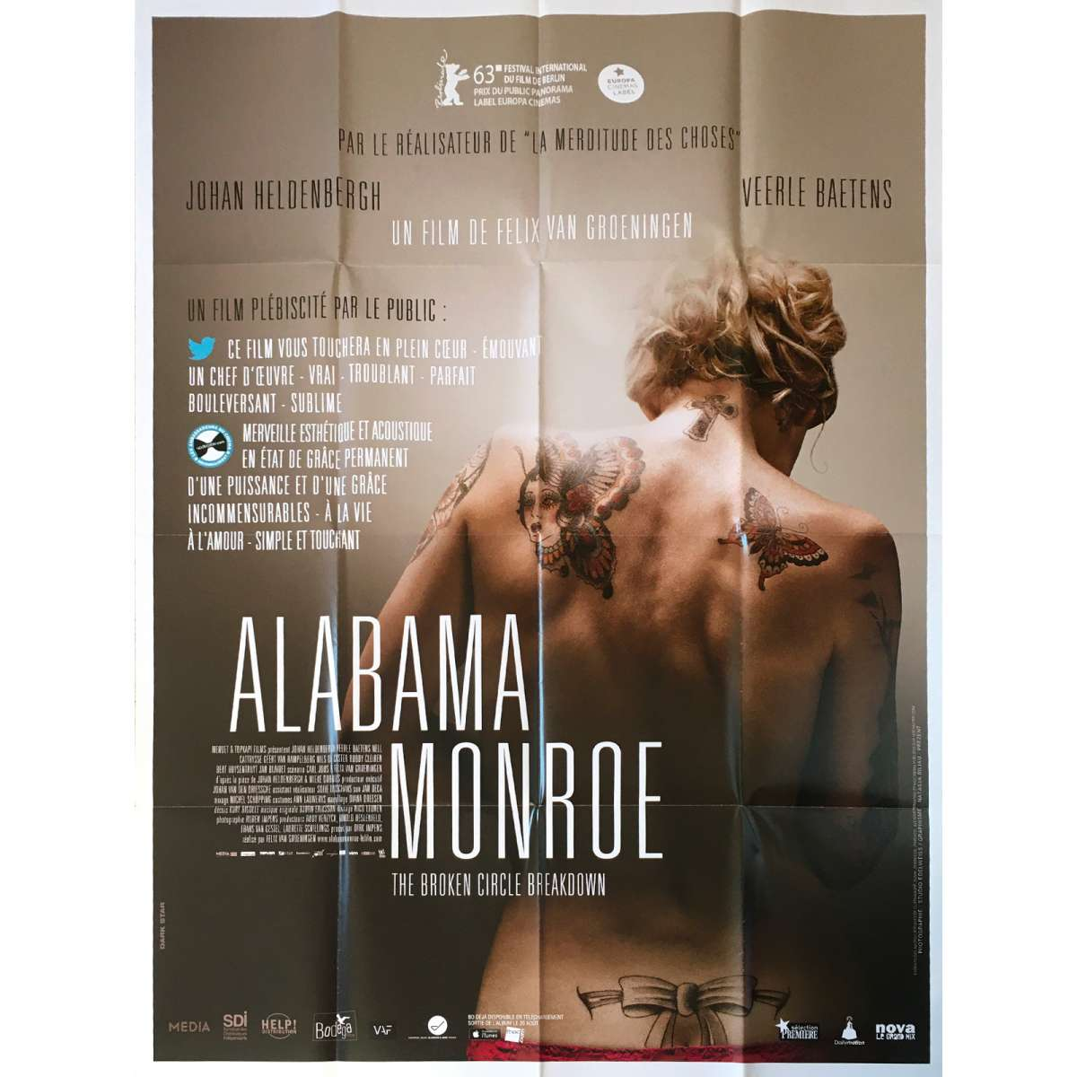 THE BROKEN CIRCLE BREAKDOWN French Movie Poster - 47x63 in ...