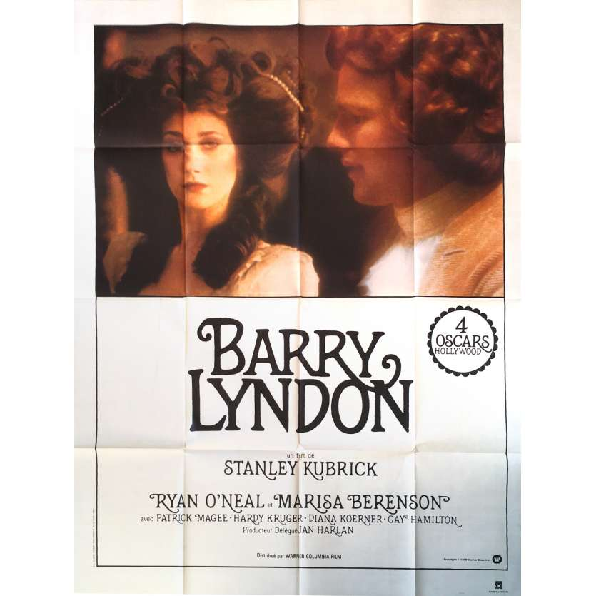 BARRY LYNDON Affiche de film - 120x160 cm. - 1976 - Ryan O'Neil, Stanley Kubrick