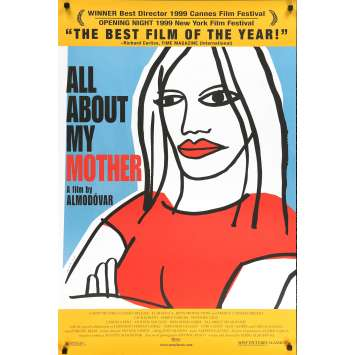 ALL ABOUT MY MOTHER Original Movie Poster - 27x40 in. - 1999 - Pedro Almodovar, Cecilia Roth