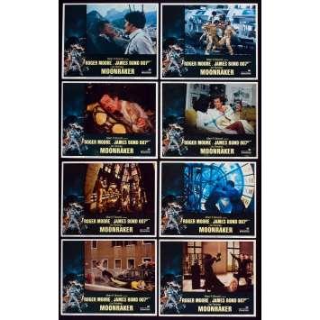 MOONRAKER US Lobby Cards X8 11x14 - 1979 - Lewis Teague, Roger Moore