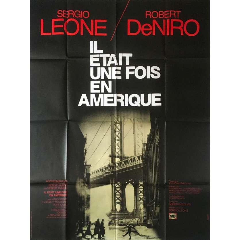 IL ETAIT UNE FOIS EN AMERIQUE Affiche de film 120x160 cm - 1984 - Robert de Niro, Sergio Leone