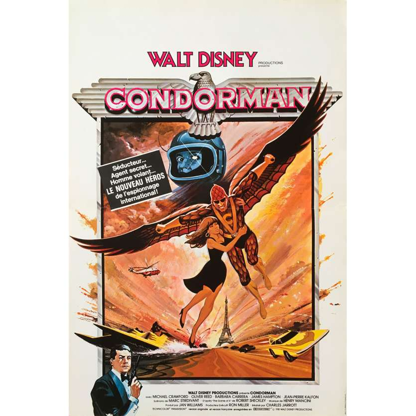 CONDORMAN Affiche de film - 40x60 cm. - 1981 - Oliver Reed, Charles Jarrott