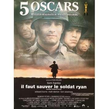 IL FAUT SAUVER LE SOLDAT RYAN Affiche de film Oscars - 40x60 cm. - 1998 - Tom Hanks, Steven Spielberg