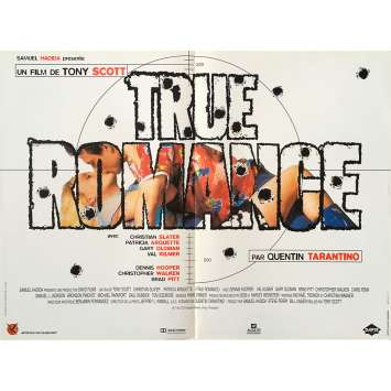 TRUE ROMANCE French Movie Poster 15x21 - 1993 - Tony Scott, Christian Slater