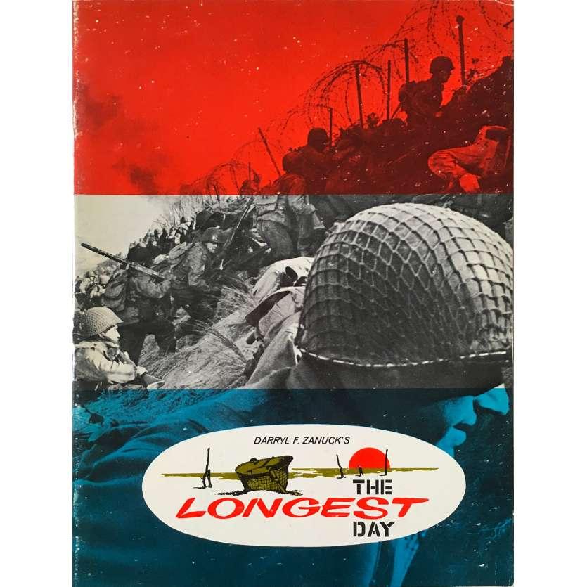 THE LONGEST DAY Original Program 44p - 9x12 in. - 1962 - Ken Annakin, John Wayne, Dean Martin