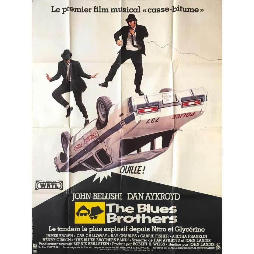 THE BLUES BROTHERS Original Movie Poster - 47x63 in. - 1981 - John Landis, John Belushi