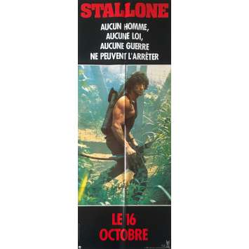 RAMBO - FIRST BLOOD PART II Original Movie Poster Bow style - 23x63 in. - 1985 - George P. Cosmatos, Sylvester Stallone