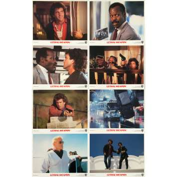 LETHAL WEAPON Original Lobby Cards x8 - 8x10 in. - 1987 - Richard Donner, Mel Gibson