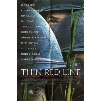 THE THIN RED LINE Original Movie Poster - 27x41 in. - 1998 - Terrence Malick, Sean Penn