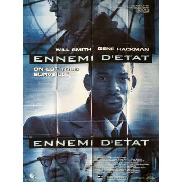 ENNEMY OF THE STATE Original Movie Poster - 47x63 in. - 1998 - Tony Scott, Will Smith, Gene Hackman