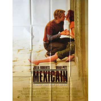 THE MEXICAN Original Movie Poster - 47x63 in. - 2001 - Gore Verbinski, Brad Pitt, Julia Roberts