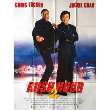 RUSH HOUR 2 Original Movie Poster - 47x63 in. - 2001 - Brett Ratner, Jackie Chan, Chris Tucker