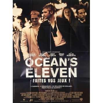 OCEAN'S ELEVEN Original Movie Poster - 47x63 in. - 2001 - Steven Soderbergh, George Clooney, Brad Pitt