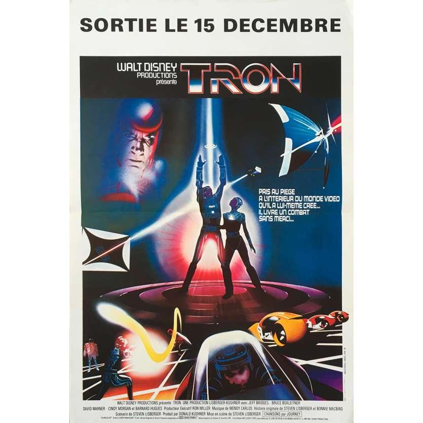 TRON Affiche de film - 40x60 cm. - 1982 - Jeff Bridges, Steven Lisberger