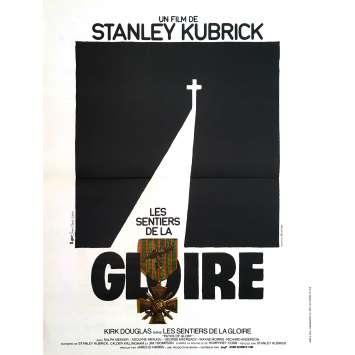 LES SENTIERS DE LA GLOIRE Affiche de film - 40x60 cm. - 1975 - Kirk Douglas, Stanley Kubrick